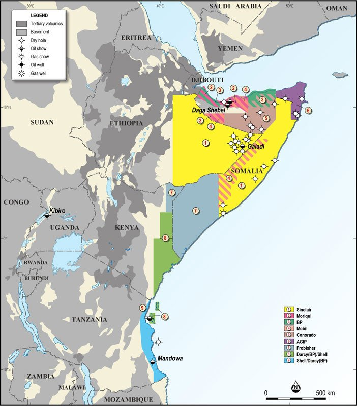Map Of Africa 1950.Geo Expro Oil And Gas Exploration In East Africa A Brief History