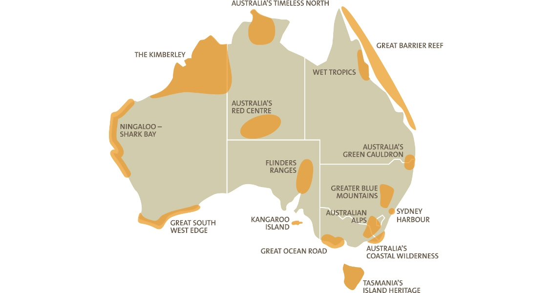 Geo expro australias big red centre map of australias national landscapes gumiabroncs Gallery