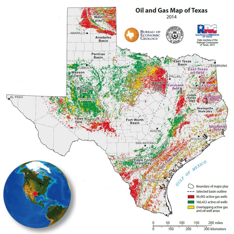 Texas Oil Discovery Map GEO ExPro   Oil Production Surges in Texas