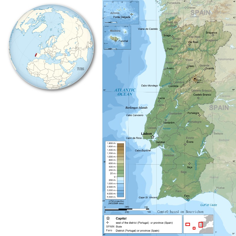 GEO ExPro Promising Portugal - Portugal map districts
